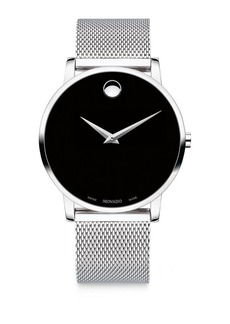 Movado Museum Classic Stainless Steel Mesh Bracelet Watch