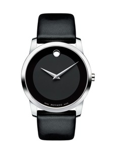 Movado Museum Classic Stainless Steel Leather Band Watch