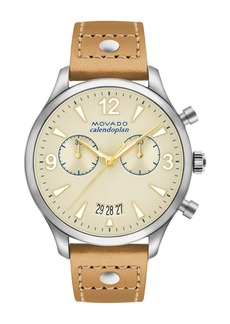 Movado Women's Heritage Analog Quartz Strap Watch, 38mm