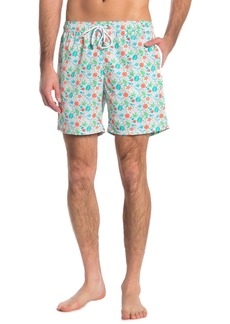 Mr. Swim Floral Print Swimming Trunks