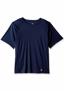 Mr. Swim Men's Contrast UPF 50+ Swim Tee Navy/red M