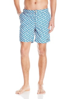 Mr. Swim Men's Double Hex Kurt Hybrid Swim Trunk