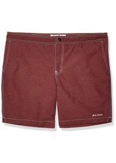 Mr. Swim Men's Heather Kurt Hybrid Swim Trunk