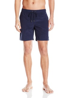 Mr. Swim Men's Shimmer Dale Elastic Swim Trunk
