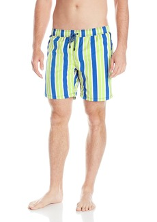 Mr. Swim Men's Striped Swim Trunk