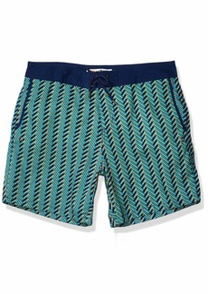 Mr. Swim Men's Woven-Print Swim Trunk