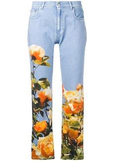 MSGM floral straight-leg jeans