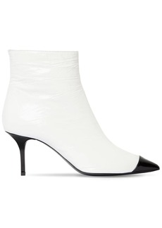 MSGM 70mm Patent Leather Ankle Boots