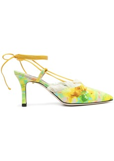 MSGM 80mm abstract-print pumps