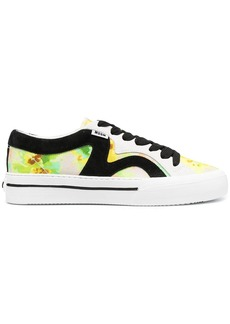 MSGM abstract-print low-top sneakers