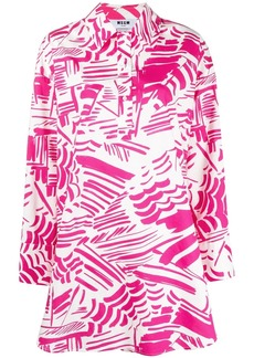 MSGM abstract-print shirt dress