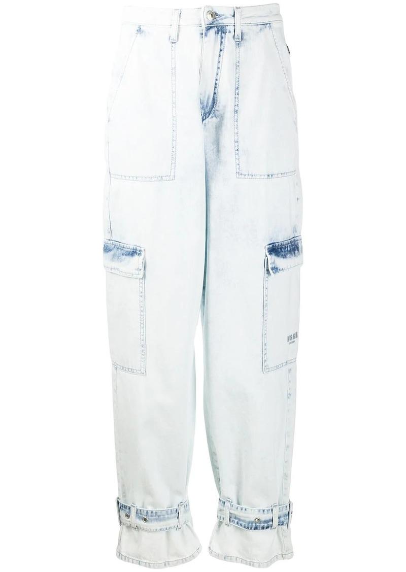 MSGM acid wash straight-fit jeans