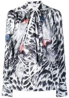 MSGM animal print blouse