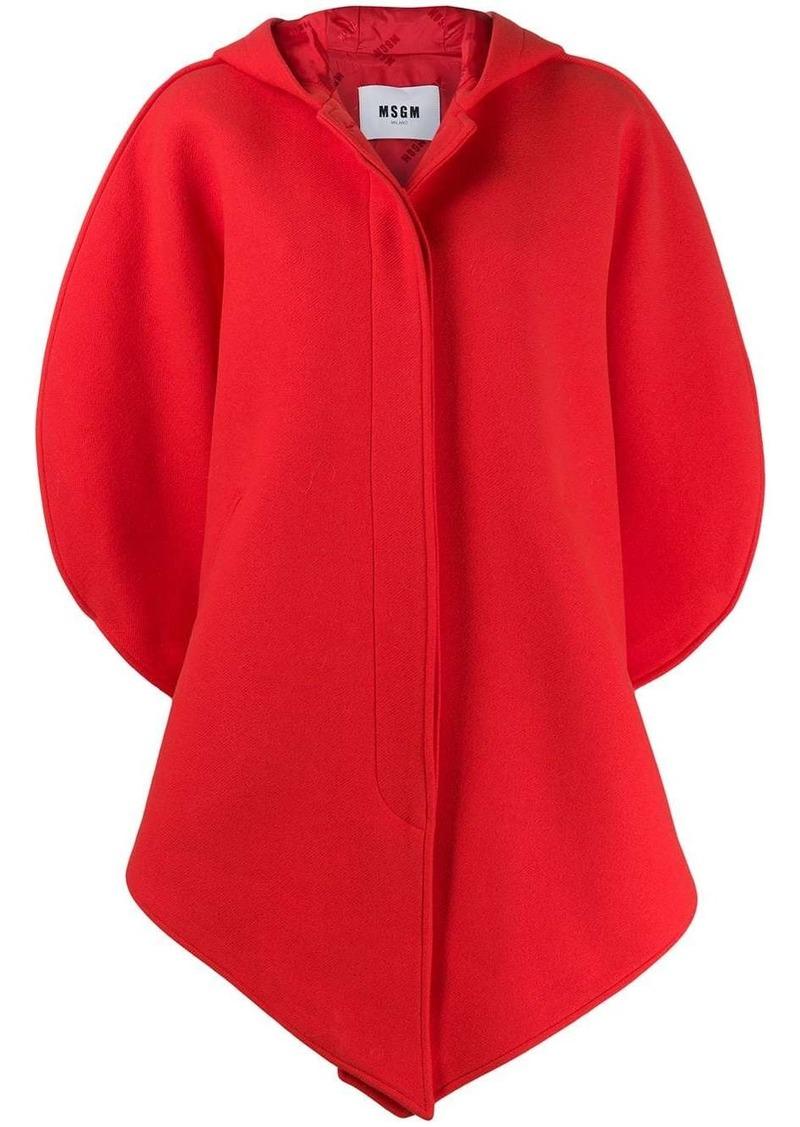 MSGM asymmetric hooded coat