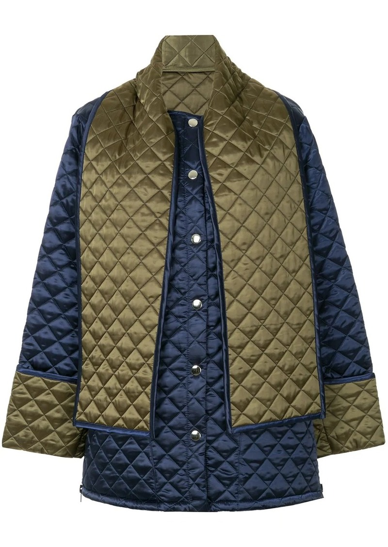 MSGM back print quilted jacket
