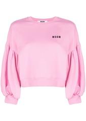 Msgm balloon sleeve sweatshirt abvcad9dce0 a