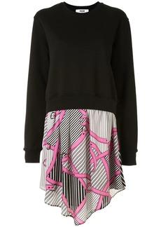 MSGM belt-print sweatshirt dress