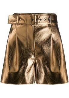 MSGM belted shorts
