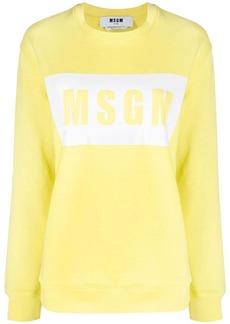 MSGM box logo crew neck sweatshirt