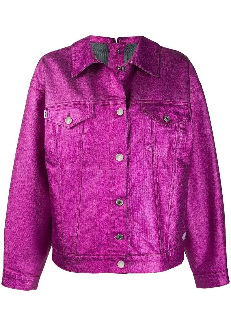 MSGM boxy metallic jacket