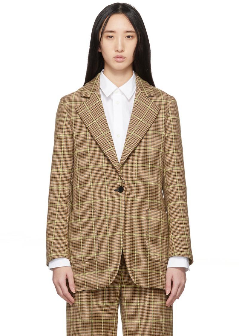 MSGM Brown Check Blazer