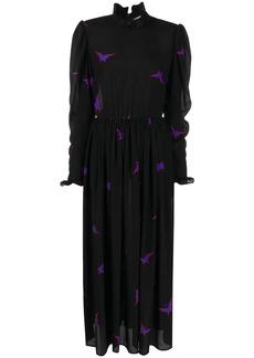 MSGM butterfly edwardian style dress