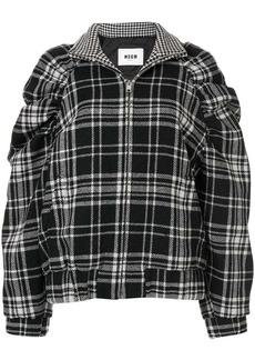 MSGM check jacket