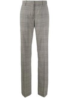 MSGM check straight-leg trousers