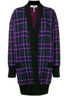 MSGM checkered cardi-coat