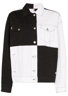 MSGM checkered denim jacket