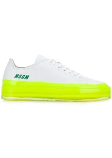 MSGM contrast sole sneakers