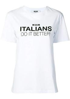 MSGM Italians Do It Better T-shirt