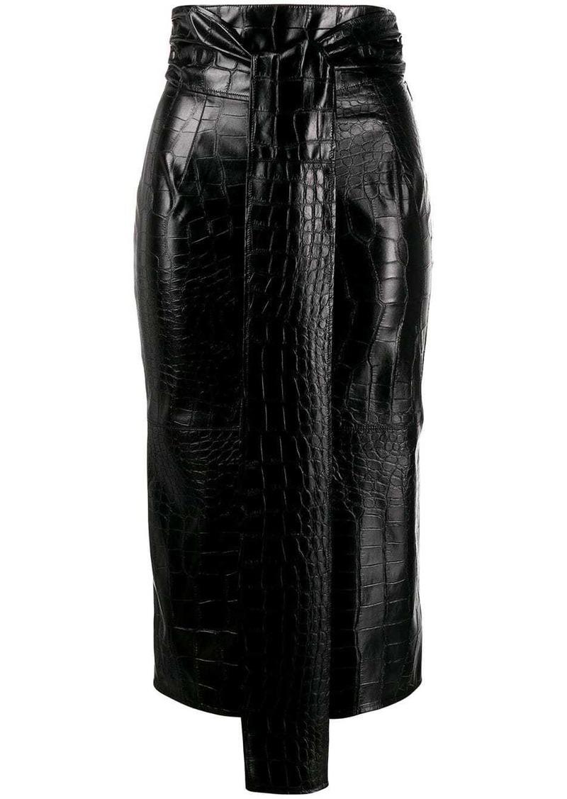 MSGM croc pencil skirt