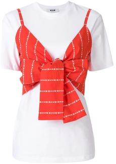 MSGM crop top layered T-shirt