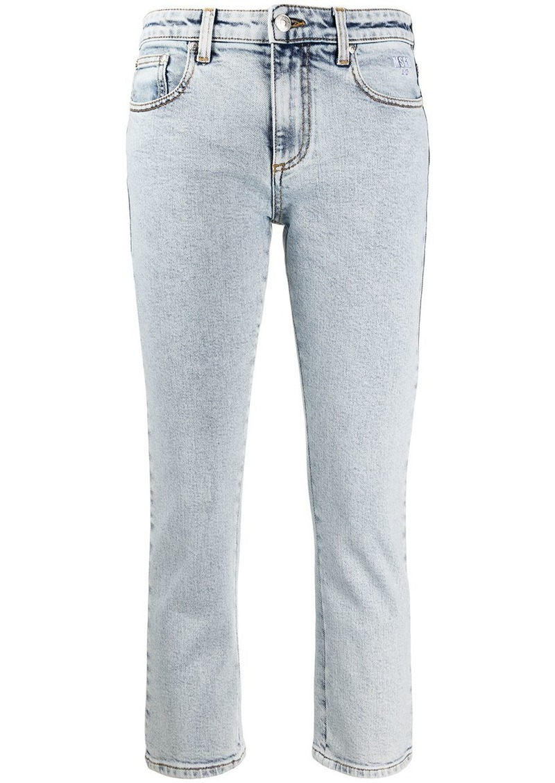 MSGM cropped denim jeans