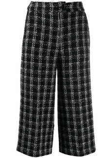 MSGM cropped embroidered trousers