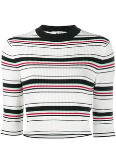 MSGM cropped knitted top