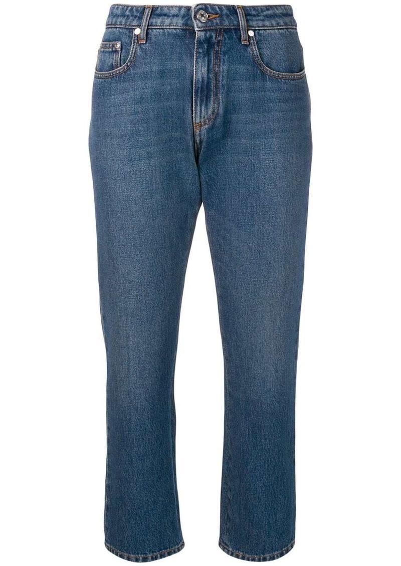 MSGM cropped straight-leg jeans