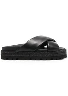 MSGM crossover strap flatform sandals