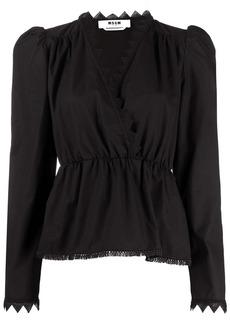 MSGM cut-out trim blouse