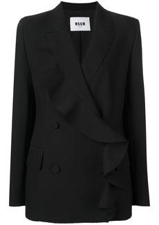 MSGM double-breasted ruffle jacket