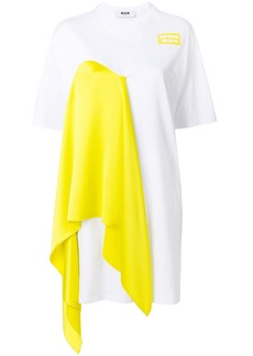 MSGM draped T-shirt dress