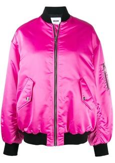 MSGM embroidered bomber jacket