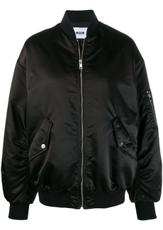 MSGM embroidered logo puffer jacket