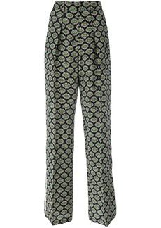 MSGM eyes print straight trousers