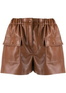 MSGM faux-leather shorts