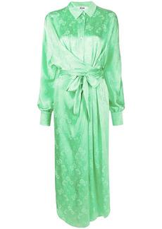 MSGM floral jacquard shirt dress