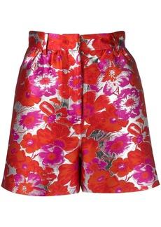 MSGM floral jacquard shorts