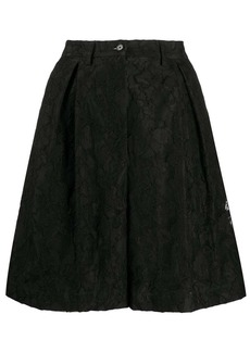 MSGM floral-lace pleated bermuda shorts