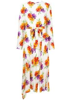 MSGM floral print belted dress
